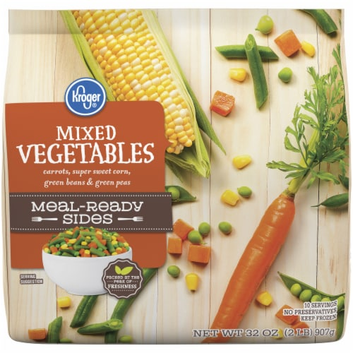 Kroger® Meal-Ready Sides Frozen Mixed Vegetables Perspective: front
