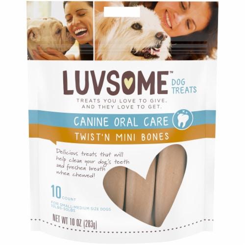 Luvsome™ Twist'n Mini Bones Small-Medium Size Dog Treats Perspective: front
