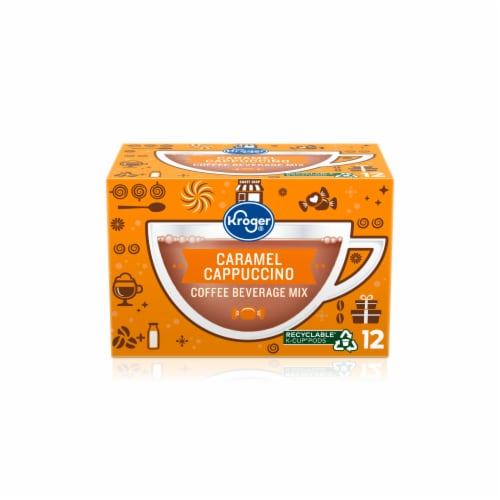 Kroger® Caramel Flavored Cappuccino K-Cup Pods Perspective: front