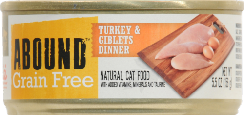 ABOUND™ Grain Free Turkey & Giblets Dinner Cat Food Perspective: front