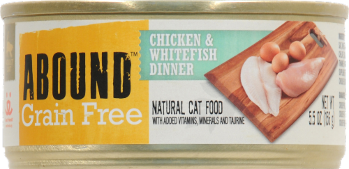 ABOUND™ Grain Free Chicken & Whitefish Dinner Wet Cat Food Perspective: front