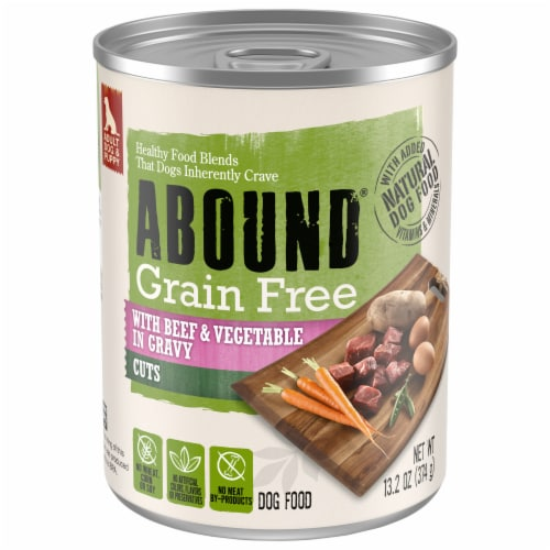 Abound™ Grain Free Beef & Vegetable Cuts in Gravy Wet Dog Food Perspective: front
