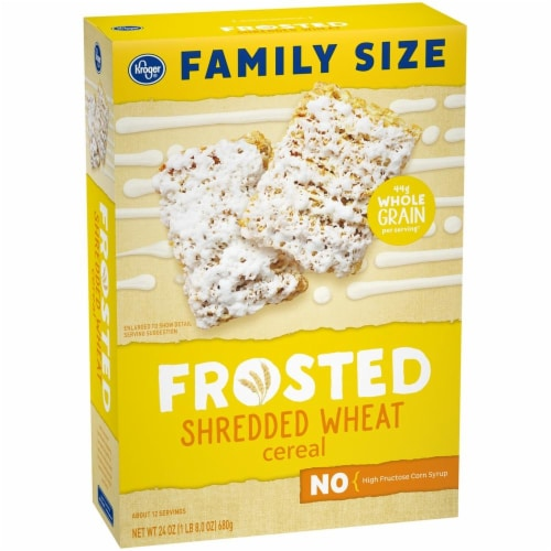 Kroger® Frosted Shredded Wheat Cereal Perspective: front