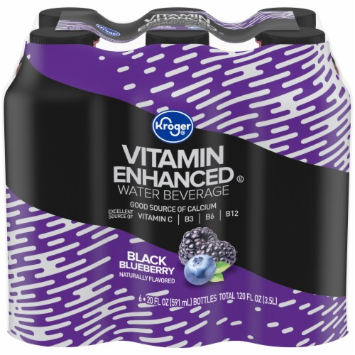 Kroger® Black Blueberry Vitamin Enhanced Zero Calorie Water Beverage Perspective: front