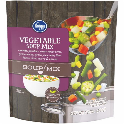 Kroger® Frozen Vegetable Soup Mix Perspective: front