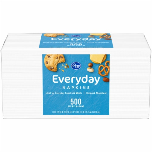 Kroger® White Everyday Napkins Perspective: front