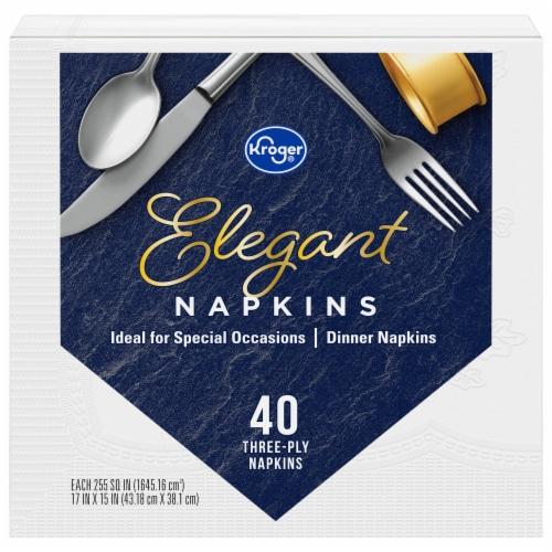 Kroger® Elegant Dinner Napkins Perspective: front