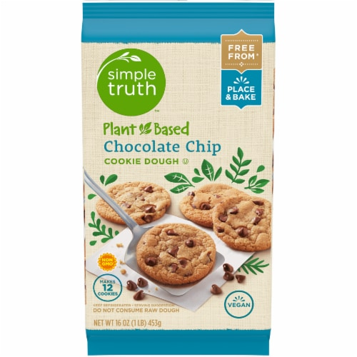 Simple Truth™ Plant-Based Chocolate Chip Cookie Dough Perspective: front