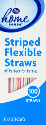 Kroger®  Striped Flexible Straws Perspective: front