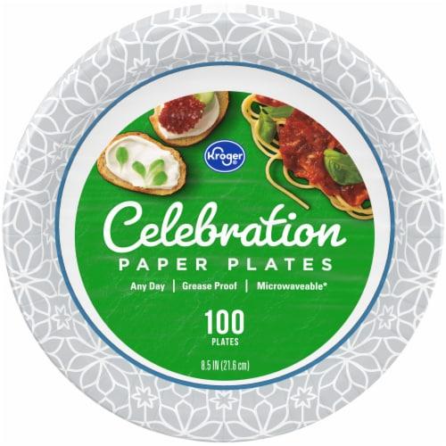 Kroger® Designer Paper Plates 8.5 inch Perspective: front