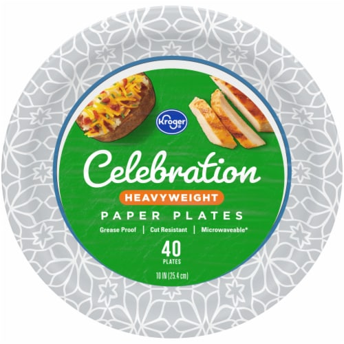 Kroger® Heavy Weight Paper Plates Perspective: front