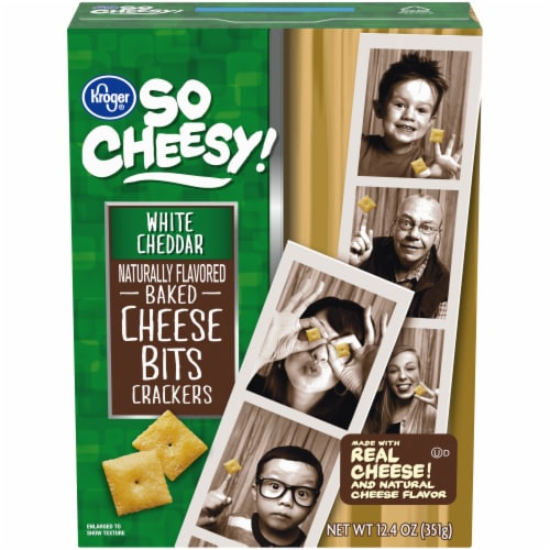 Kroger® So Cheesy! Big Baked Cheese Bits - White Cheddar Perspective: front