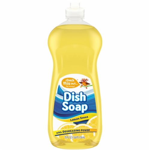 Check This Out® Lemon Dish Soap Perspective: front