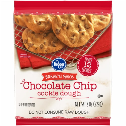 Kroger® Break 'N Bake Chocolate Chip Cookie Dough Bag Perspective: front
