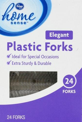 Kroger®  Elegant Plastic Forks Perspective: front