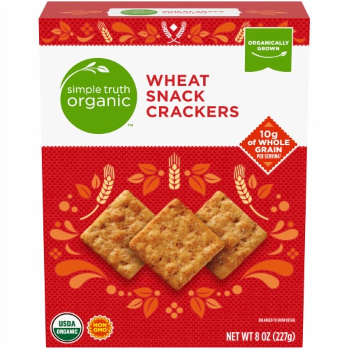 Simple Truth Organic™ Wheat Snack Crackers Perspective: front