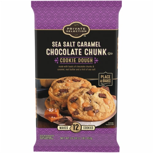 Private Selection™ Sea Salt Caramel Chocolate Chunk Cookie Dough Perspective: front