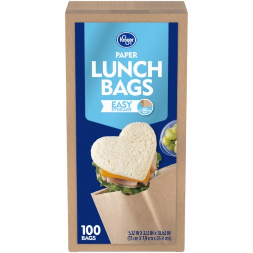 Kroger® Paper Lunch Bags Perspective: front
