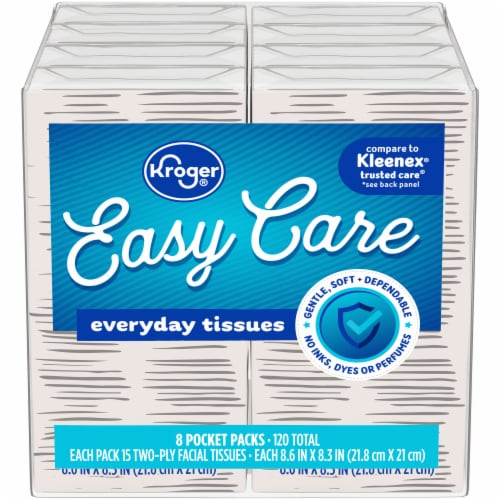 Kroger® Home Sense® Pocket Pack Facial Tissue (8 Pack) Perspective: front