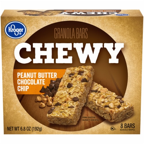 Kroger® Chewy Peanut Butter Chocolate Chip Granola Bars Perspective: front