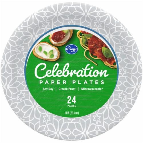 Kroger® Celebration 10-Inch Paper Plates Perspective: front