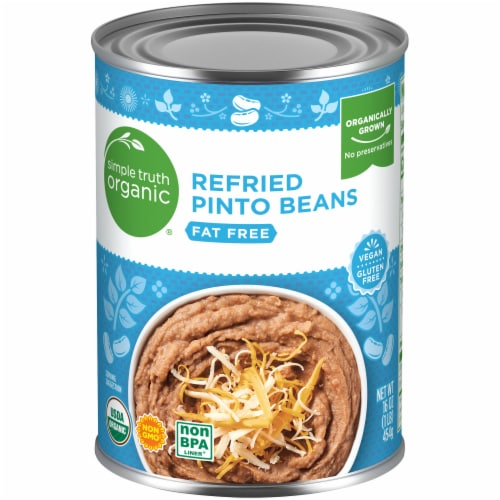 Simple Truth Organic® Fat Free Refried Pinto Beans Perspective: front