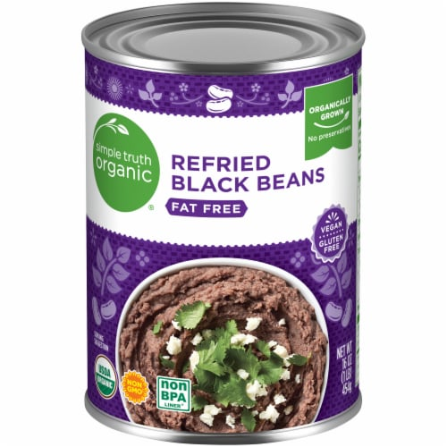 Simple Truth Organic® Fat Free Refried Black Beans Perspective: front