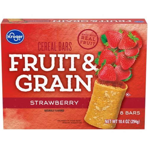 Kroger® Fruit & Grain Strawberry Cereal Bars Perspective: front