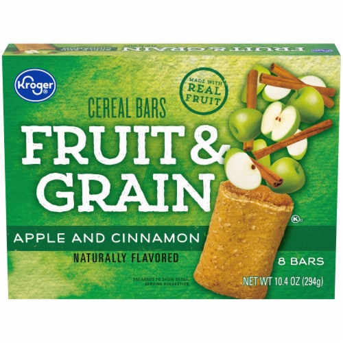 Kroger® Fruit & Grain Apple & Cinnamon Cereal Bars Perspective: front