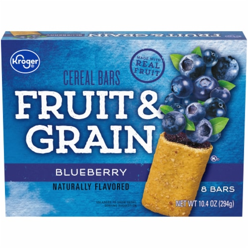 Kroger® Fruit & Grain Blueberry Cereal Bars Perspective: front