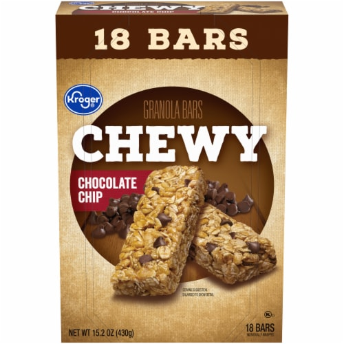 Kroger® Chewy Chocolate Chip Granola Bars Perspective: front