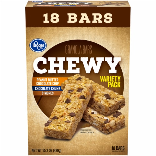 Kroger® Chewy Granola Bars Variety Pack Perspective: front