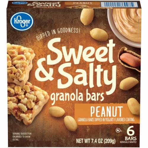 Kroger® Sweet & Salty Peanut Granola Bars Perspective: front