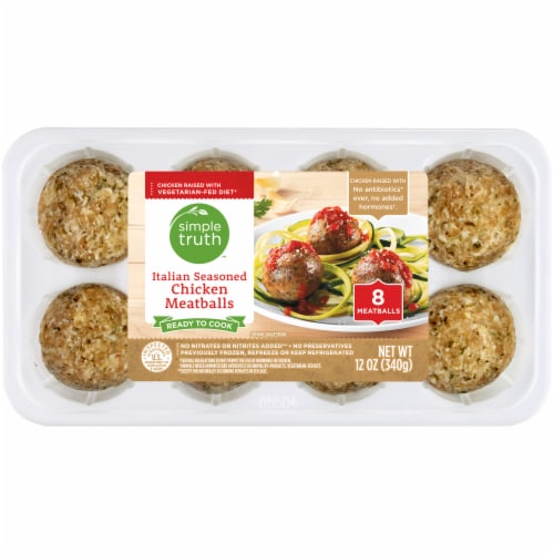 Simple Truth™ Italian Seasoned Chicken Meatballs Perspective: front