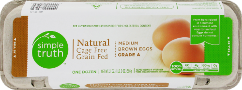 Simple Truth™ Natural Cage Free Grade A Medium Brown Eggs Perspective: front