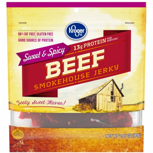 Kroger® Gluten Free Sweet & Spicy Beef Smokehouse Jerky Perspective: front