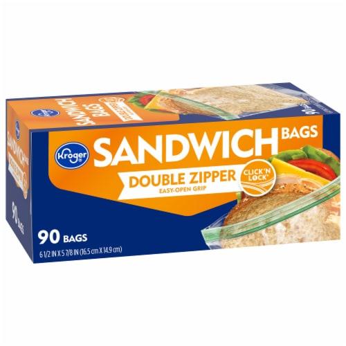 Kroger® Double Zipper Sandwich Bags Perspective: front