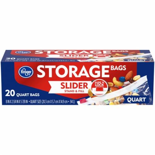 Kroger® Slide 'N Lock Quart Storage Bags Perspective: front