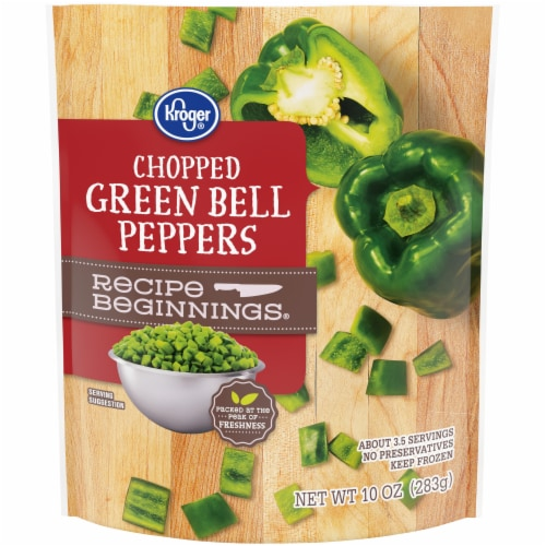 Kroger® Recipe Beginnings Chopped Green Bell Peppers Perspective: front