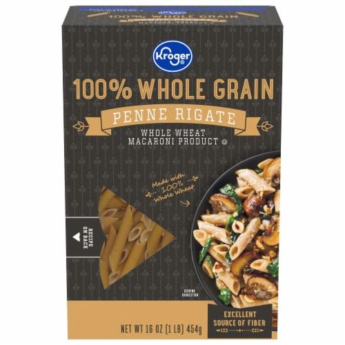 Kroger® 100% Whole Grain Penne Rigate Pasta Perspective: front