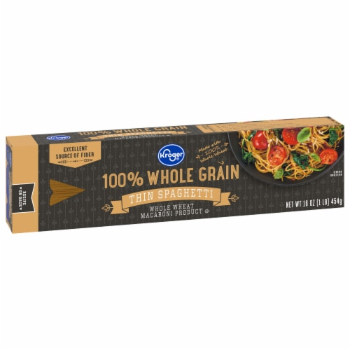 Kroger® 100% Whole Grain Thin Spaghetti Perspective: front