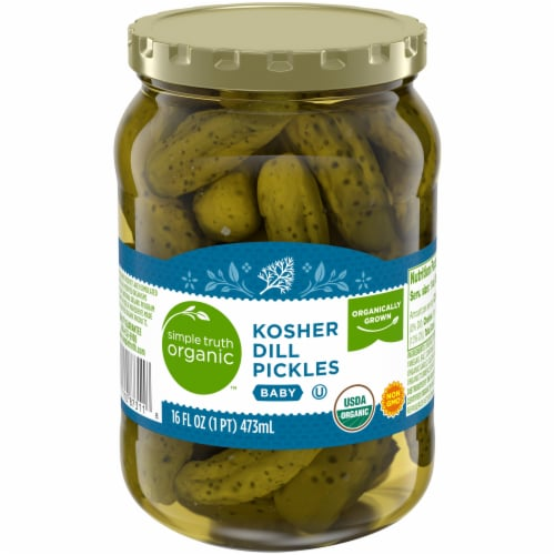 Simple Truth Organic™ Kosher Whole Baby Dill Pickles Perspective: front