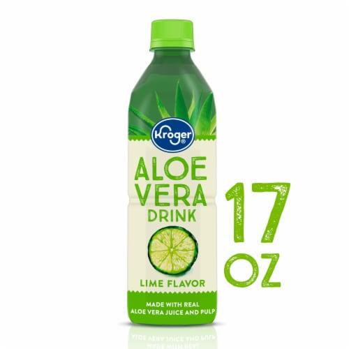 Kroger® Lime Flavor Aloe Vera Juice Drink Perspective: front