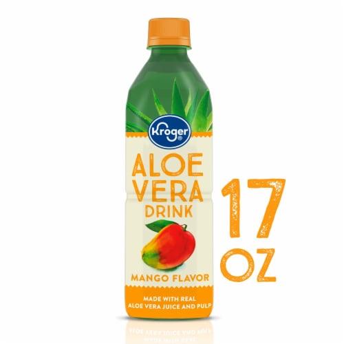 Kroger® Mango Flavor Aloe Vera Juice Drink Perspective: front