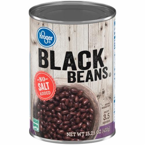 Kroger® No Salt Added Black Beans Perspective: front