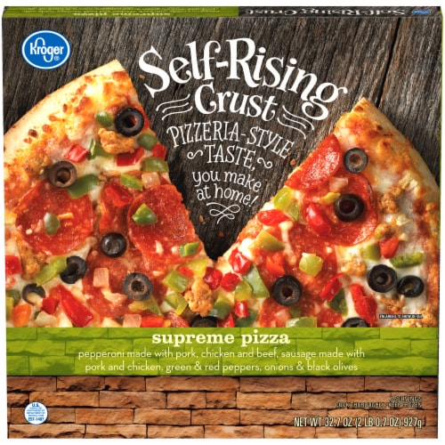 Kroger® Self-Rising Crust Supreme Pizza Perspective: front