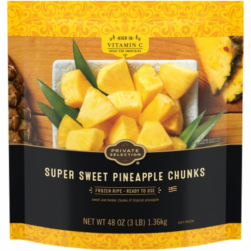 Private Selection® Super Sweet Pineapple Chunks Perspective: front