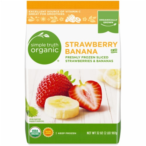 Simple Truth Organic® Frozen Sliced Strawberries & Bananas Perspective: front