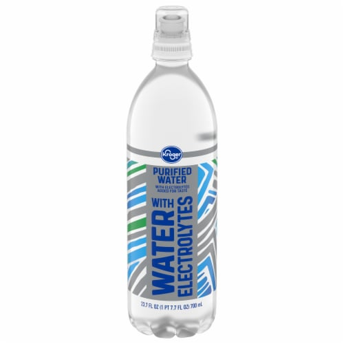 Kroger® Purified Water Plus Electrolytes Perspective: front