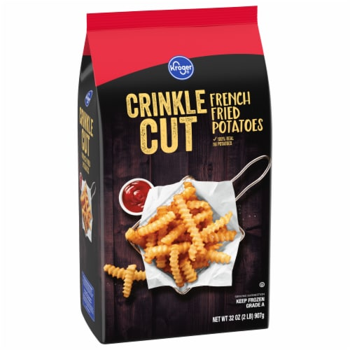 Kroger® Crinkle Cut French Fries Bag Perspective: front